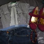Dress up denim with fabulous shoes!